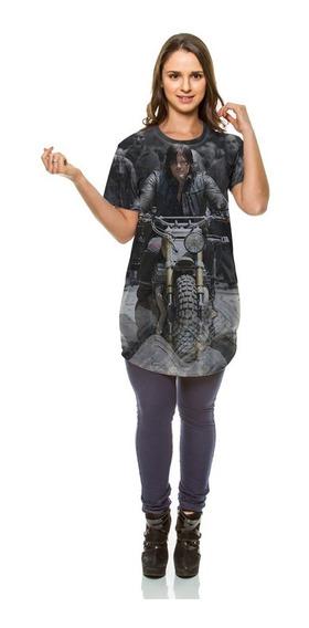 Camiseta Oversized The Walking Dead Daryl Dixon Moto