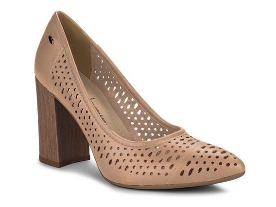 Sapato Scarpin Salto Grosso Feminino Dakota G1094 Novo