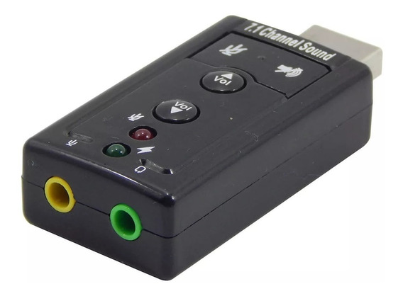 Adaptador De Som Usb Virtual Channel 7.1 Canais Sound Driver