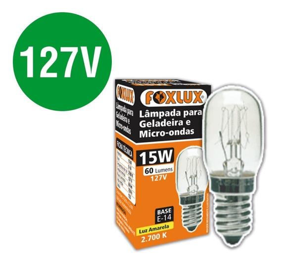 Lâmpada Para Geladeira Electrolux Df34 E14 15w E14 Tu25 110v