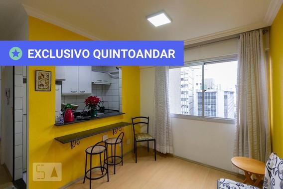 Apartamento No 9º Andar Mobiliado Com 1 Dormitório E 1 Garagem - Id: 892988608 - 288608
