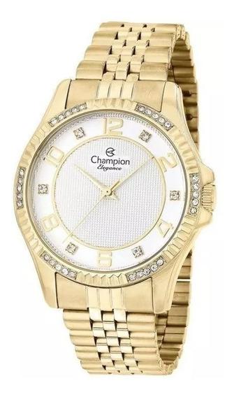 Relógio Feminino Champion Casual Analógico Cn25805h Dourado