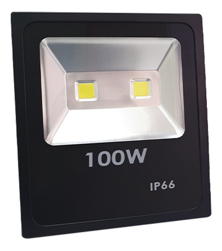 Reflector Led 100w Slim Delgado Exterior Luz Blanca Fria