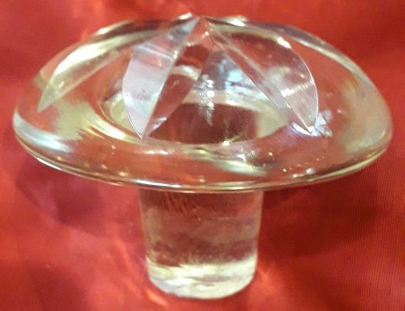 Antiguo Tapon Cristal De Licorera O Perfumero 75 Mm X 25 Mm