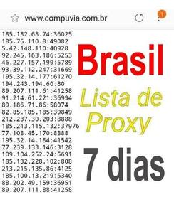 Lista De Proxy Brasil 7 Dias