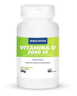 Vitamina D 2000 Ui Newnutrition -60 Cápsulas Pronta Entrega!