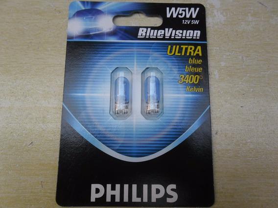 Lampada Pingo 12961 Blue Vision W5w Philips Preço Do Par