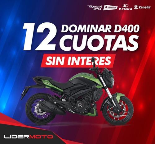 Imagen 1 de 15 de Nueva Bajaj Dominar D 400  Lidermoto 12 Cuotas Sin Interés !