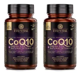 Coenzima Q10 Com Ômega 3 Tg - 2x 60 Cápsulas - Essential