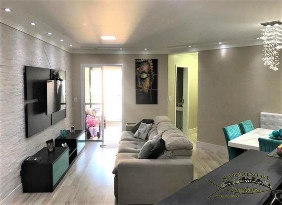 Lindo Apartamento À Venda - 68m² Com 2 Dormitórios, 1 Suíte, Área De Serviço E 2 Vagas De Garagem - Parque Taboão - Taboão Da Serra - Sp - Ml1265