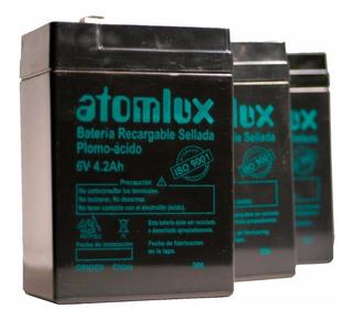 Bateria Gel Atomlux 6v 4,2ah Luz De Emergencia Modelo 2019