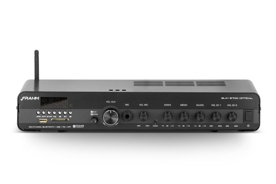 Amplificador Fm Frahm Slim 3700 Optical App/bt/usb/sd