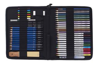 H & B 51pcs / Set Kit Profesional De Dibujo A Lápiz