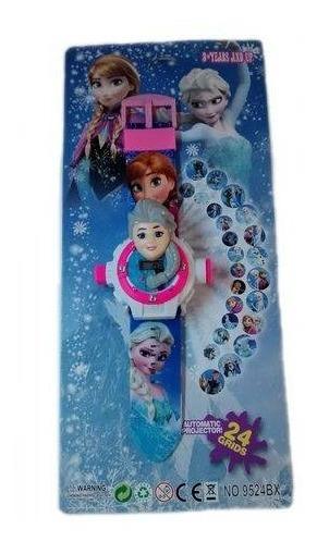 Relógio Infantil Projetor Elsa Frozen Digital