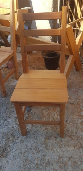 Cadeira Em Peroba De Demolição