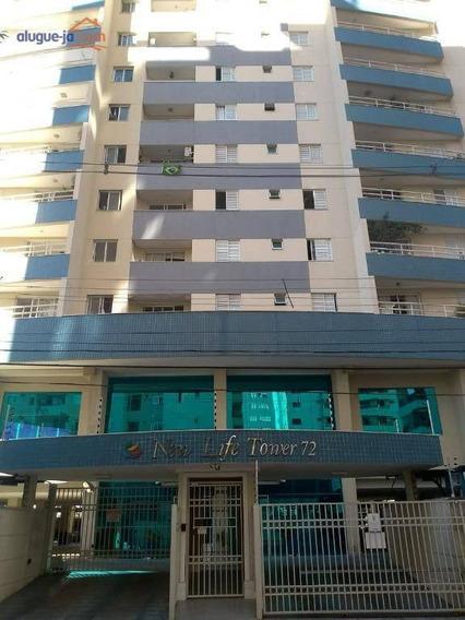Apartamento Com 3 Dormitórios Para Alugar, 76 M² Por R$ 1.900/mês - Jardim Aquarius - São José Dos Campos/sp - Ap9892