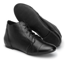 bc54fbbbb0 Bota Ankle Boot Salto Grosso Branca. 4. 155 vendidos · Bota Cano Curto Feminina  Couro Legítimo - Cavalaria® 3461