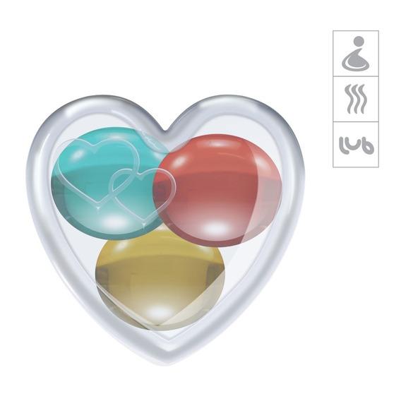 Bolinhas Aromatizadas Variadas Embalagem Coração 3un