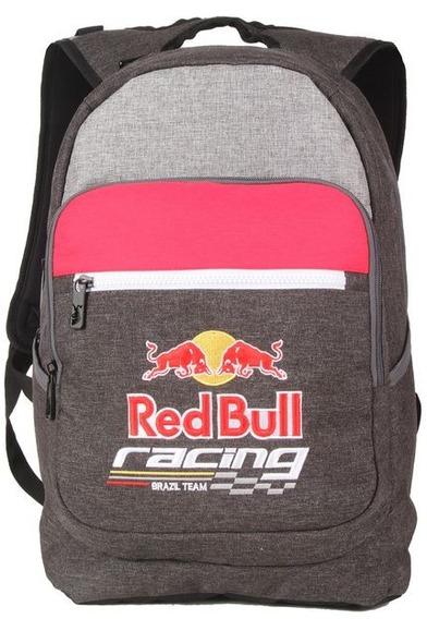 Mochila Red Bull Grande Escolar Impermeável Juvenil Rbb4050
