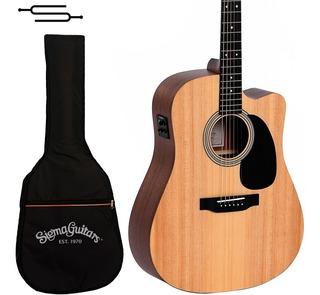 Guitarra Electroacustica Sigma Dmc-ste+ Fishman + Funda
