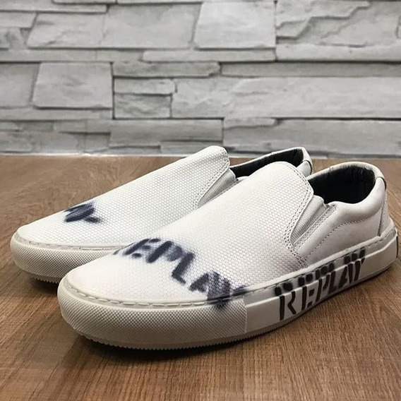 Slip On Replay Iate Frete Gratis Shoes