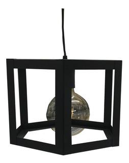 Lampara Colgante Hexagonal Cubo Techo 1 Luz E27 Moderno