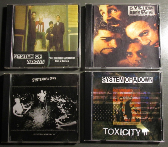 Lote 4 Cd System Of A Down Bootlegs Cdr Demos, Live, Rarezas