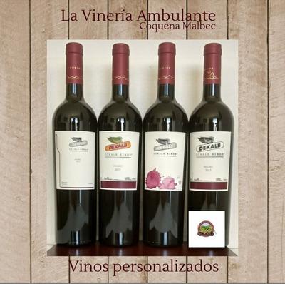 Vino Coquena Yacochuya Etiquetas Personalizadas (150 Cajas)