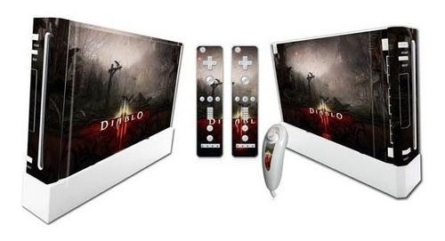Vinilo Skin Adhesivo Pegotin Nintendo Wii Diablo