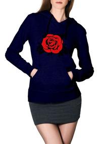 Moletom Florido Blusa Casaco De Frio Feminino Customizado