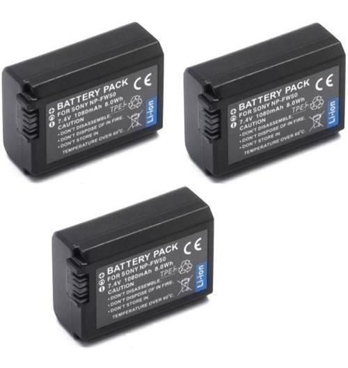 Kit 3 Baterias + 2 Carregadores Para Sony Alpha A6500