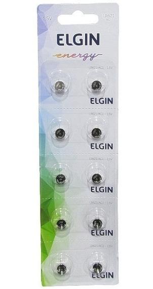 Bateria Elgin Lr621 Ag1 1.5v Cartela Com 10 Unidades