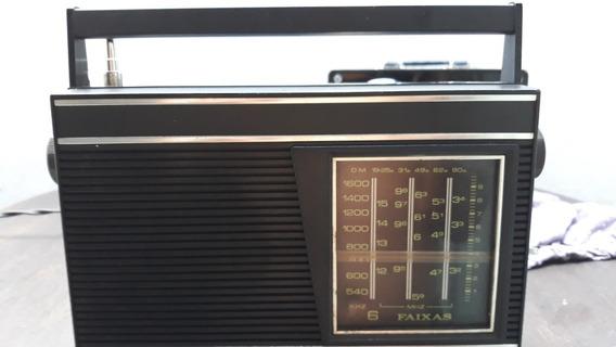 Rádio Portatil Motoradio Modelo 6 Faixas