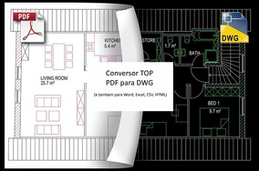 Conversor Pdf Para Dwg (tambem Para Excel, Word, Csv, Html)