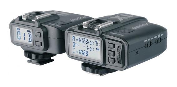 Radio Flash Godox X1 C Ttl Para Canon (par) Com Nf X1c