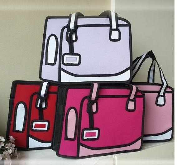 Bolso Cartera Diseño 2d 3d Cartoon Bag Handbag Importada 23
