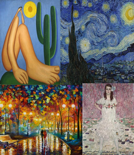 Kit 02 Obras Foto Hd Van Gogh Tarsila Klimt Monet A Escolher