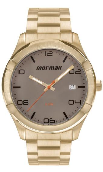 Relógio Mormaii Masculino Mo2415af/4c Dourado Barato + Nota