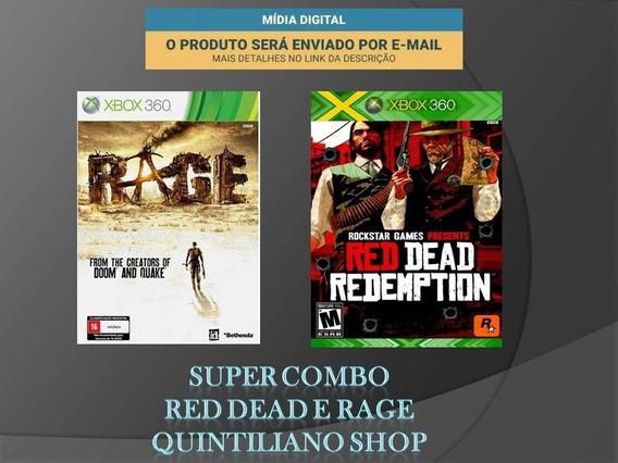 Red Dead Redemption E Rage Xbox 360 Mídia Digital