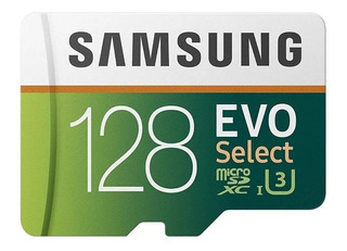 Original Samsung Microsd Card 128gb Evo Select U3 4k 100mb/s