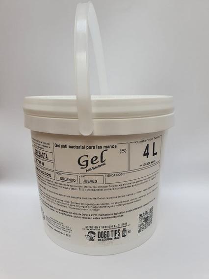 Cubeta Gel Antibacterial Sin Fragancia De 4 Litros