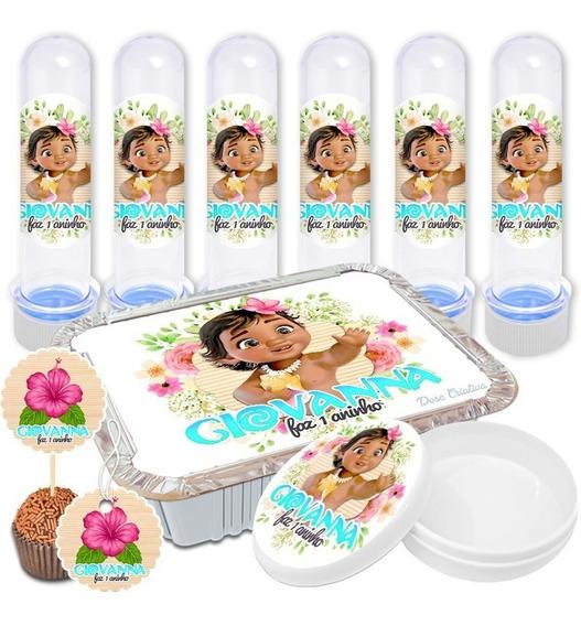 Adesivos Personalizados Lembrancinha 150 Peças Moana Baby