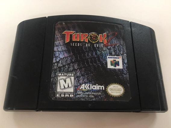 Turok 2 Seeds Of Evil Nintendo 64 Original Com Manual