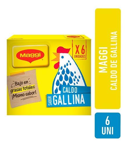 Caldo De Gallina Maggi En Cubos X 6 Unidades