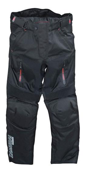 Pantalon Moto Samurai Lisboa Negro Abrigo Desmontable To