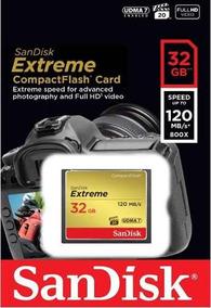 Cartão Memória 32gb Compact Flash Sandisk Cf Extreme