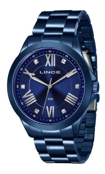 Relógio Lince Feminino Azul Analógico
