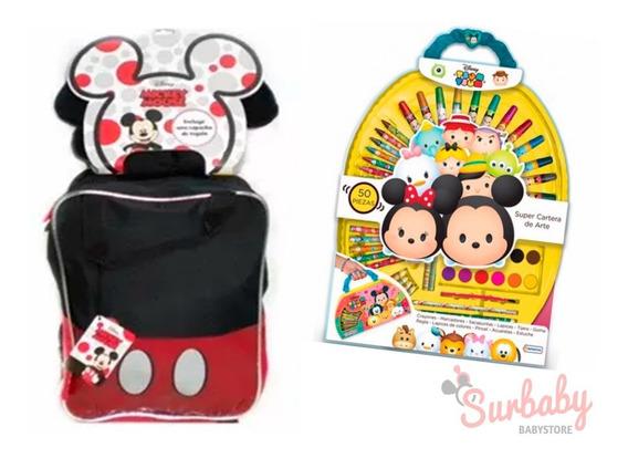 Mochila Mickey Minnie Capuch 12 Km473/4 /set Arte Tsum Tsum