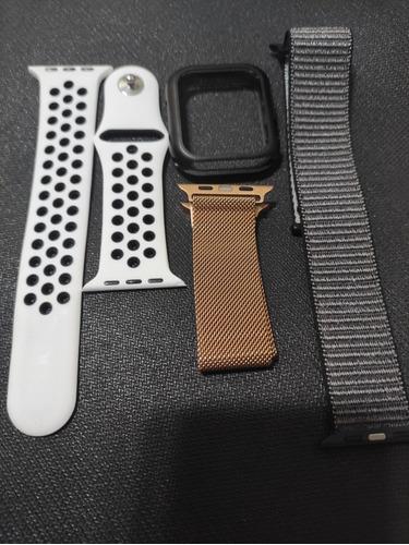 3 Pulseiras Para Apple Watch Ou Iwo 44 Mm + Case Protetora