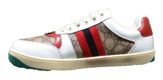 Tenis Sneakers Gucci Screnner Red Envio Gratis